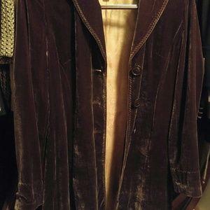 Coldwater Creek velvet jacket
